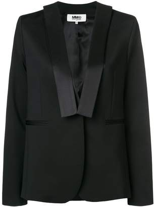 MM6 MAISON MARGIELA satin trim blazer