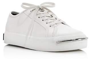 Alexander Wang Women's Pia Low Top Leather Platform Sneakers