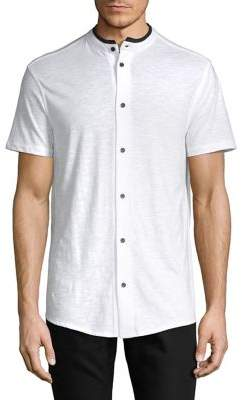 Karl Lagerfeld Short Sleeve Button Front Shirt