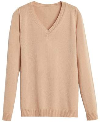 Wool Cashmere Slim V-Neck Sweater
