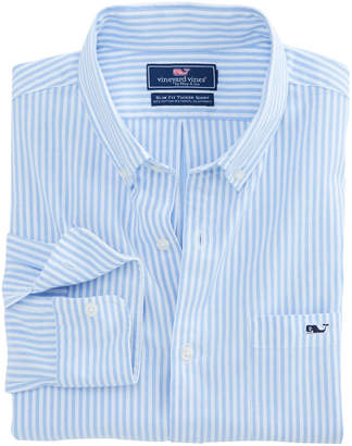 Vineyard Vines Tiloo Cay Stripe Stretch Oxford Slim Stretch Tucker Shirt