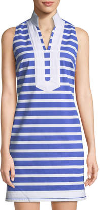 6da1c731db ... Sail To Sable Sleeveless High-Neck Striped Tunic Dress