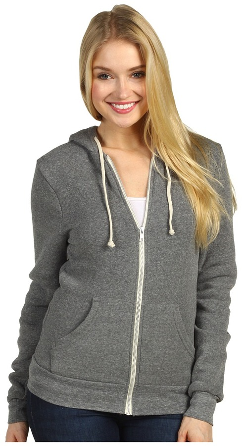 Alternative Apparel - The Rocky Eco-Fleece Zip Hoodie