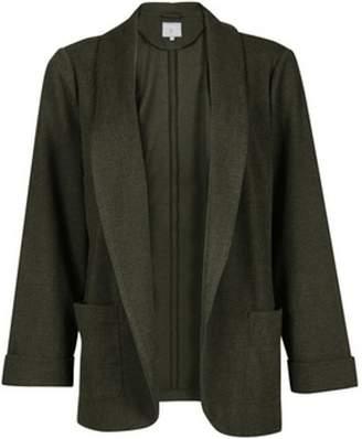 Dorothy Perkins Womens Petite Khaki Jersey Jacket