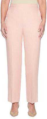 Alfred Dunner Women's Petite Proportioned Short Solid Pant