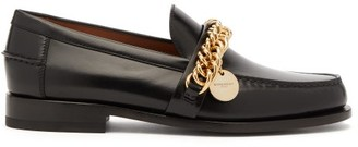 Givenchy Chain Embellished Leather Loafers - Womens - Black