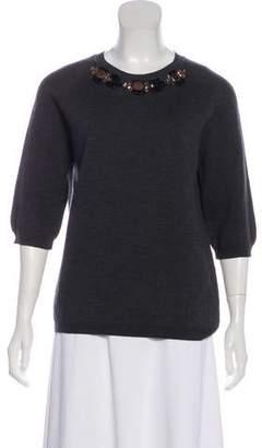 Marni Embellished Wool Sweater