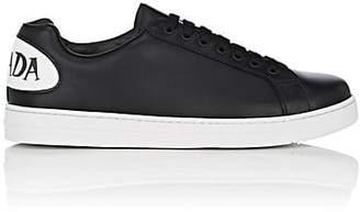 Prada Men's Logo-Appliquéd Leather Sneakers - Black