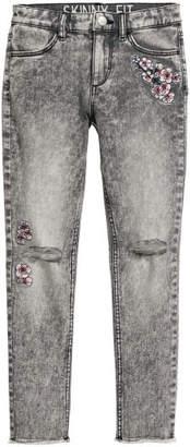 H&M Twill Pants Skinny fit - Gray