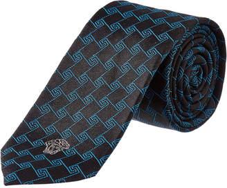 Versace Navy Silk Tie