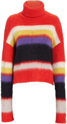 Diane von Furstenberg Chunky Turtleneck Striped Sweater