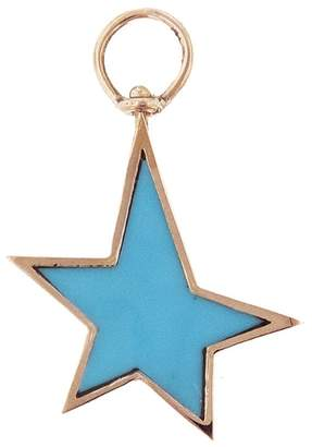 Marla Aaron Turquoise Star Charm - Rose Gold