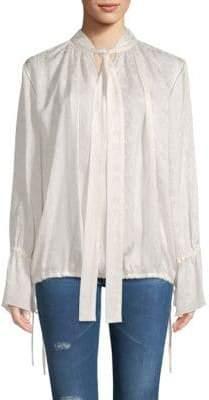 Lanvin Silk Neck Tie Blouse