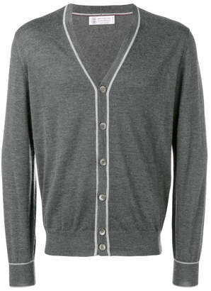 Brunello Cucinelli Cashmere-silk Blend V-neck Cardigan