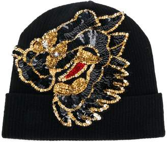 P.A.R.O.S.H. sequin embellished knitted hat