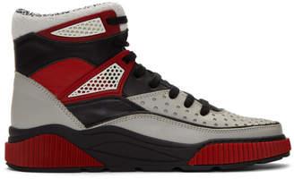 Balmain Grey and Black Kery High-Top Sneakers
