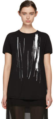 Ann Demeulemeester Black Paint Print T-Shirt