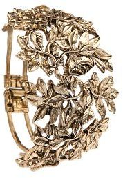MANGO TOUCH - Engraved leaves cuff