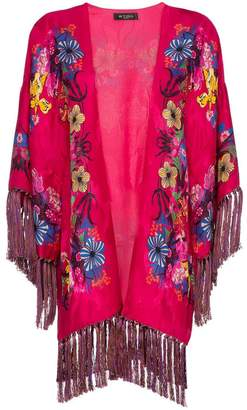 Etro floral-print jacquard poncho