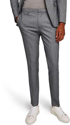 Topman Ultra Skinny Fit Houndstooth Suit Trousers