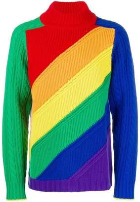 Burberry rainbow wool cashmere sweater
