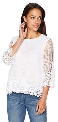 Alfred Dunner Women's Petite Crochet Tunic Top
