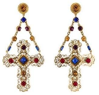 Dolce & Gabbana Crystal Gemme Chandelier Earrings