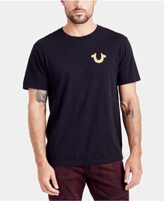 True Religion Mens Gold Buddha Graphic T-Shirt