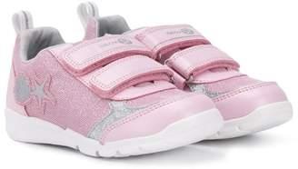 Geox Kids touch strap glitter sneakers