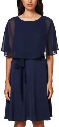 Esprit Plain Short Skater Dress with Short Sleeves