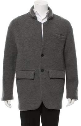 Burberry Cashmere Button-Up Coat