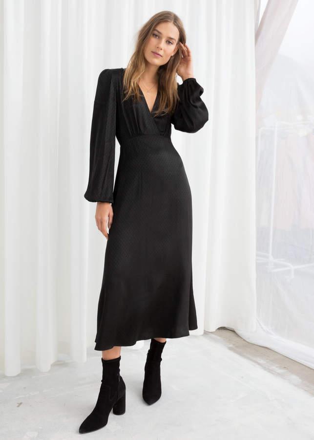 Jacquard Empire Midi Dress