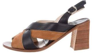 Maryam Nassir Zadeh Sophie Suede & Leather Sandals