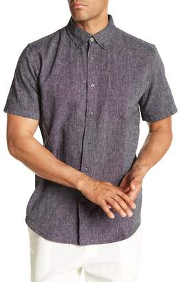 Joe Fresh Linen Blend Standard Fit Short Sleeve Shirt