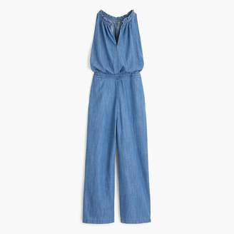 J.Crew Wide-leg chambray jumpsuit