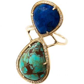 Jacquie Aiche Blue Yellow gold Ring