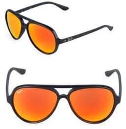 Ray-Ban 59MM Cats 5000 Mirrored Sunglasses