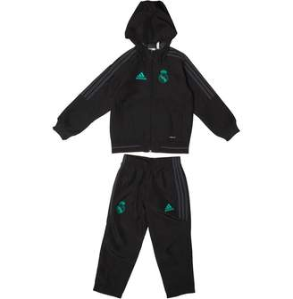 0b4434aba84b at MandMDirect.com · adidas Boys RMCF Real Madrid Presentation Tracksuit  Black Solid Grey