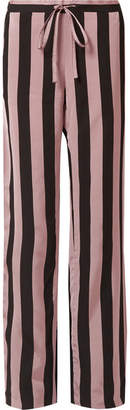 Marques Almeida Marques' Almeida - Striped Satin-twill Wide-leg Pants - Pastel pink
