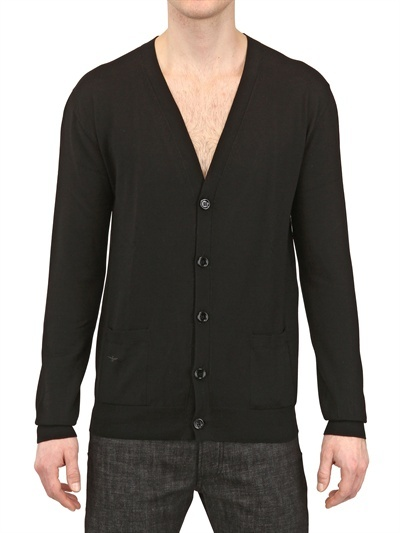 Christian Dior Bee Embroidered Wool Cardigan