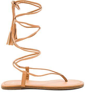 PILYQ Gladiator Sandal in Tan $66 thestylecure.com