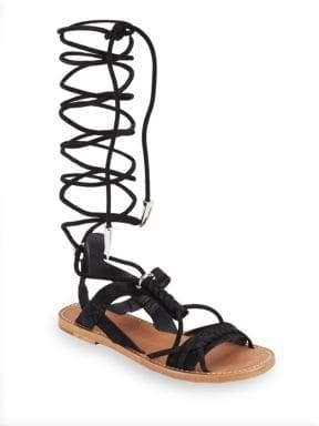 c845a81c7d40 Ash Peace Tall Gladiator Flat Sandals