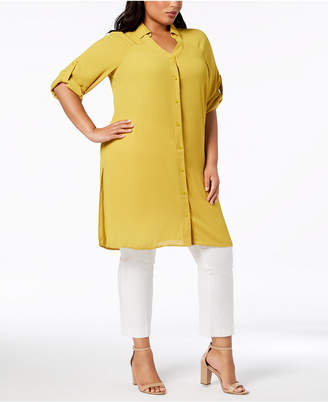 Alfani Plus Size Long Tunic Shirt, Created for Macy's