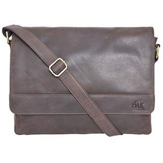 """Leather Laptop Messenger Bag for Men - Premium Office Briefcase 14"""" Macbook Professional College Mens Womens Side Bags ()..."""