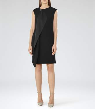 Reiss Cora - Zip-front Dress in Black