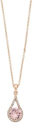 Brilliance+ Brilliance Oval Teardrop Pendant Necklace with Swarovski Crystal