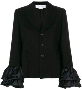 Comme des Garcons ruffle sleeved button jacket