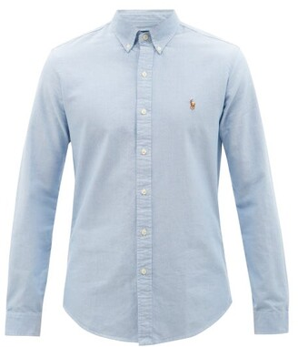 Polo Ralph Lauren Slim Fit Cotton Oxford Shirt - Mens - Blue