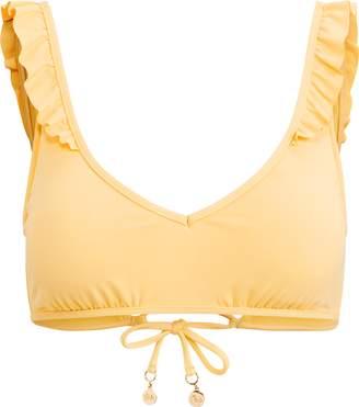 Ralph Lauren Ruffle Lace-Up-Back Bikini Top