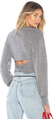 Alexander Wang Cropped V Neck Sweater